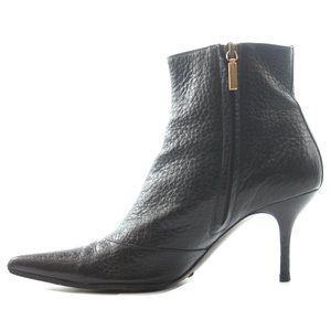 DOLCE & GABBANA BROWN LEATHER ANKLE MULE BOOTS 6.5